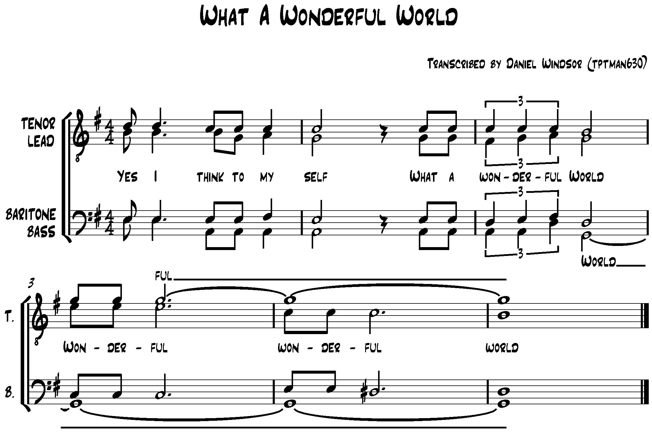 Barbershop Music : zip file containing sheet music music notation 2 files sheet music