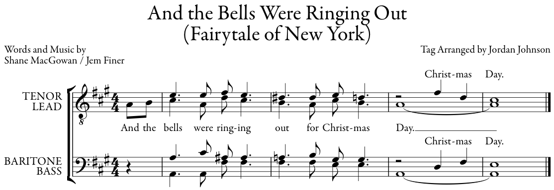 bells are ringing out on christmas day